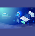 security data protection concept vector image vector image