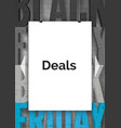 shopping deals announcement realistic vector image