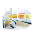 Shopping Mall Background vector image vector image