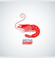 shrimp seafood menu background vector image vector image
