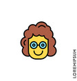 smile color icon girl woman happy laughing vector image vector image