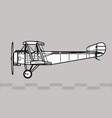 sopwith type 9700 sopwith strutter vector image vector image