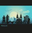 stylized landscape prague with main sights vector image vector image