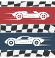 Two race cars vector image vector image
