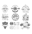 Vintage car service badges garage repair retro vector image vector image