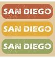 Vintage San Diego stamp set vector image vector image
