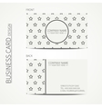 Vintage simple geometric monochrome business card vector image
