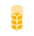 wheat logo abstract agricultural emblem sign vector image vector image