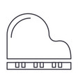 piano line icon sign on vector image