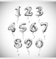 silver number metallic balloon party decoration vector image