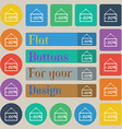 50 discount icon sign Set of twenty colored flat vector image