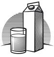 package of milk vector image