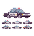 police car set vector image