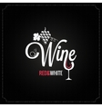wine glass and grapes vintage design background vector image