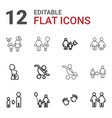 12 parent icons vector image vector image