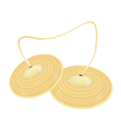 A Beautiful Cymbal on A White Background vector image vector image