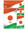 abstract niger flag background vector image