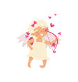angel of love with happy face adorable baby girl vector image vector image