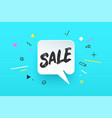 banner sale in geometric style vector image vector image