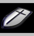 big metal templar shield game icon vector image