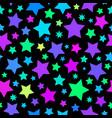 christmas stars seamless vector image