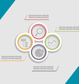 Circle Modern Template Presentation Style vector image