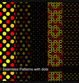 collection of dotted seamless patterns vector image