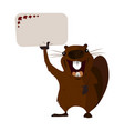 concept on the day of canada holiday beaver vector image vector image