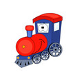cute cartoon train isolated vector image vector image