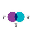 diagram infographics for two circle design and vector image vector image