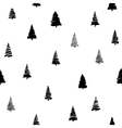 doodle fir-tree seamless vector image vector image