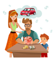 Family Budget Finance Plan Flat Poster vector image vector image