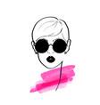 fashion design sketch woman in style pop art vector image vector image