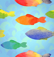 Fishes watercolor vector image vector image