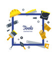 flat construction tools frame with place vector image vector image