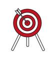 flat line target design vector image vector image