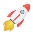 flying rocket space start flight creativity vector image