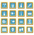 gardening icons azure vector image