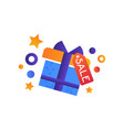 gift box with sale tag shopping symbol online vector image
