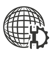 global technology isolated icon vector image