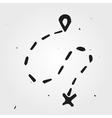 Hand drawn sign navigation vector image vector image