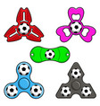 hand spinner toys with football ball flat vector image vector image