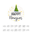 happy new year 2019 christmas poster with 3d vector image vector image