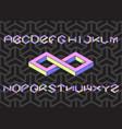 hexagon font set vector image vector image