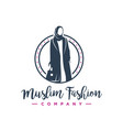 hijab fashion logo design vector image vector image
