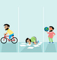 hipsters in different situations vector image vector image