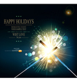 Holiday background with lit sparklers