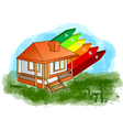 house with energy efficiency rating vector image vector image