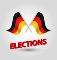 icon of germany and red 3d title elections vector image vector image