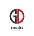initial letter gq creative elegant circle logo vector image vector image